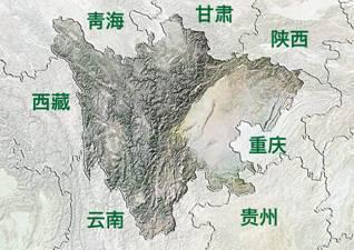 四川地形图