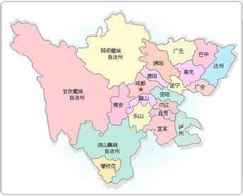"""图注:今日四川地图   当然,元朝之后,川茶的""""历史上升期"""""""