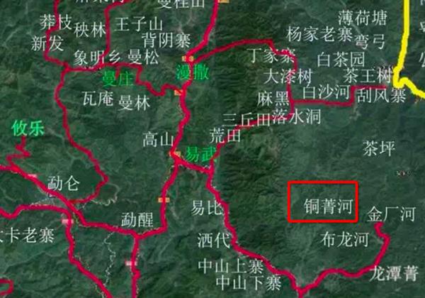 地图,同庆河