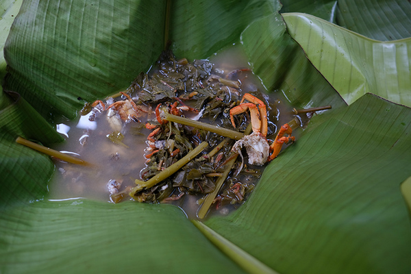 竹节锅做出的美味河鲜汤