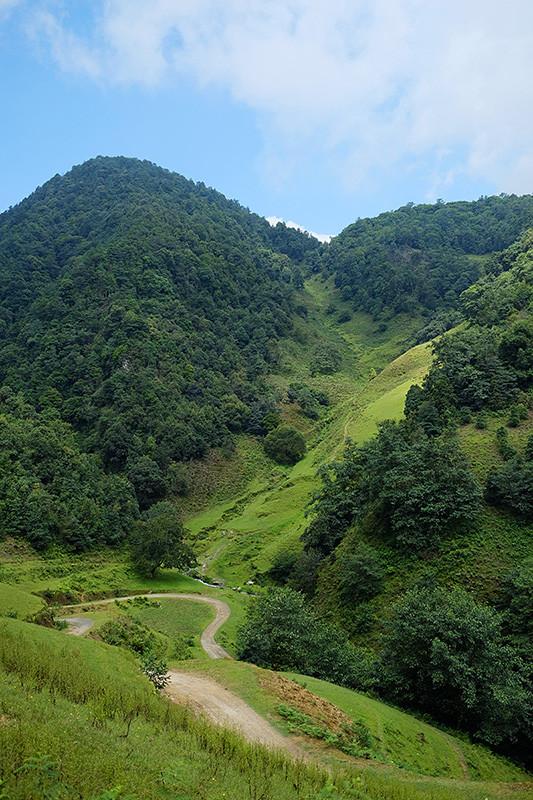 因为昌宁海拔较高,沿途路上,高山坝谷相间的地貌,已与大家熟悉的版纳雨林颇不一样