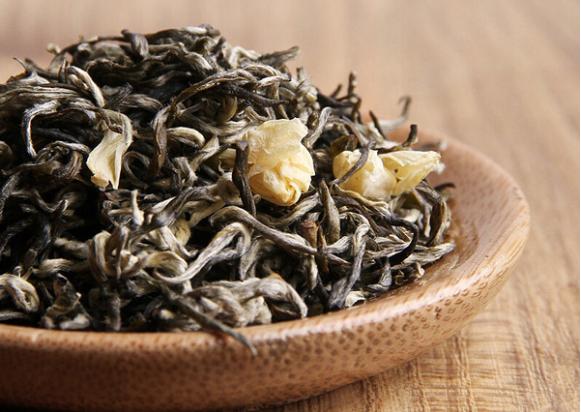 干茶,茉莉花
