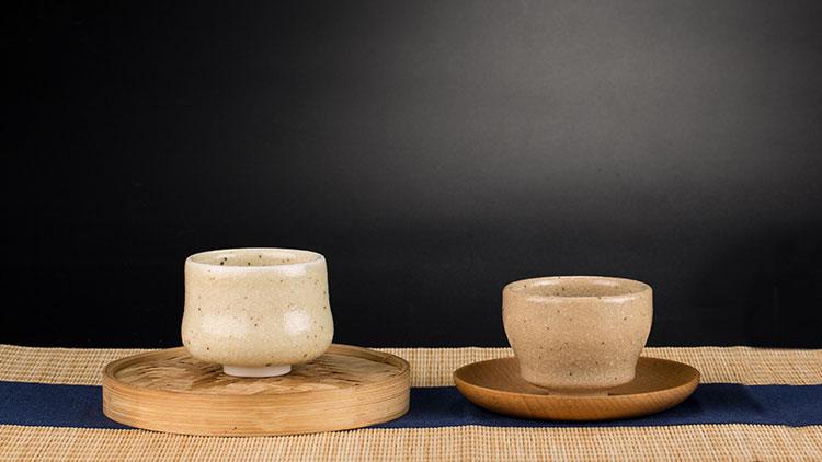 全手工陶艺主人杯野菊系列,个性原创釉色,造型美观,趁手好用,两款可选