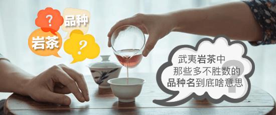 武夷岩茶中那些多不胜数的品种名到底啥意思?我们来给你翻译翻译