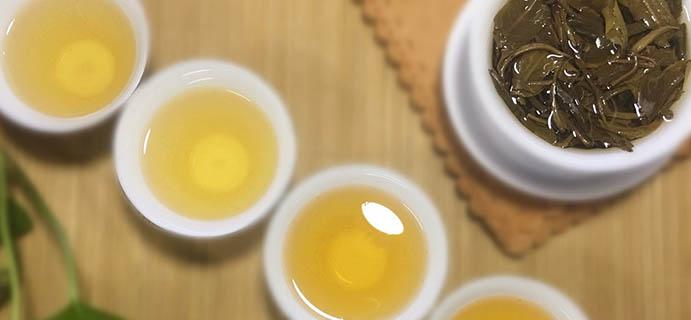 晒茶   景迈普洱生茶  干茶褐绿紧结条索壮实,嗅干茶就有清香气息。