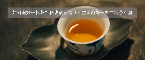 如何泡好一杯茶?秘诀就在这《10堂课泡好一杯生活茶》里
