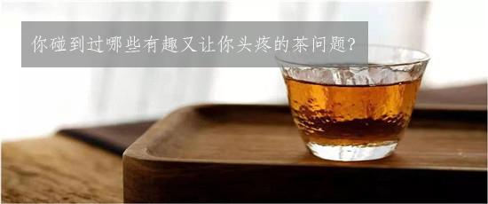 你碰到过哪些有趣又让你头疼的茶问题?