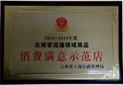 2014年 云南省流通领域商品消费者满意示范店
