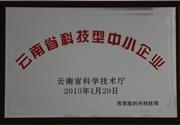 2013年 云南省科技型中小企业
