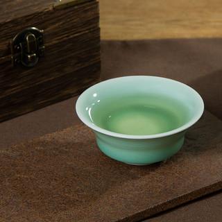 龙泉青瓷手工梅子青马蹄杯