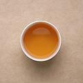 已近尾水,香气滋味都很淡了。茶汤甜润依旧,微带涩。