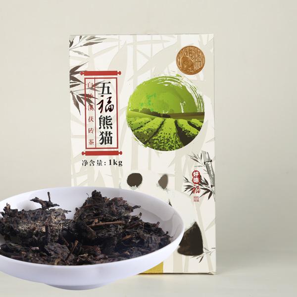 五福熊猫茯砖茶(2016)