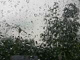 我们这里也下大雨了。