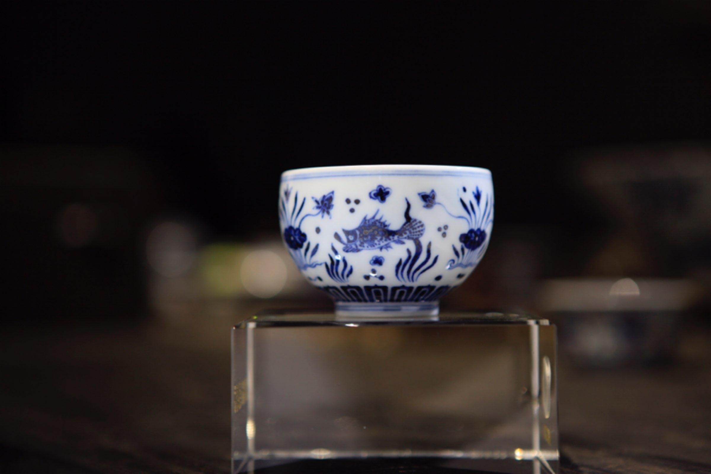 传统青花茶具