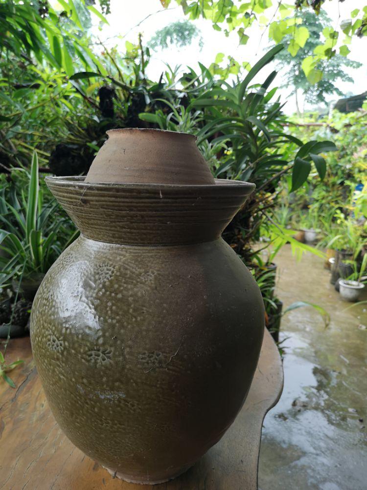 土罐存储茶叶