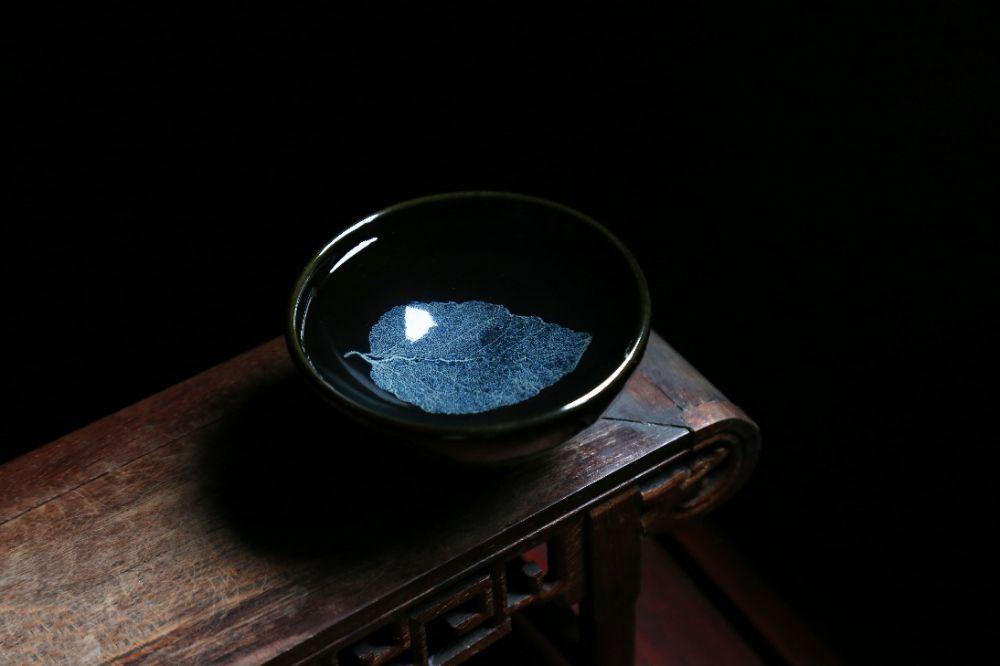终于晴天啦,新一窑冰蓝木叶盏