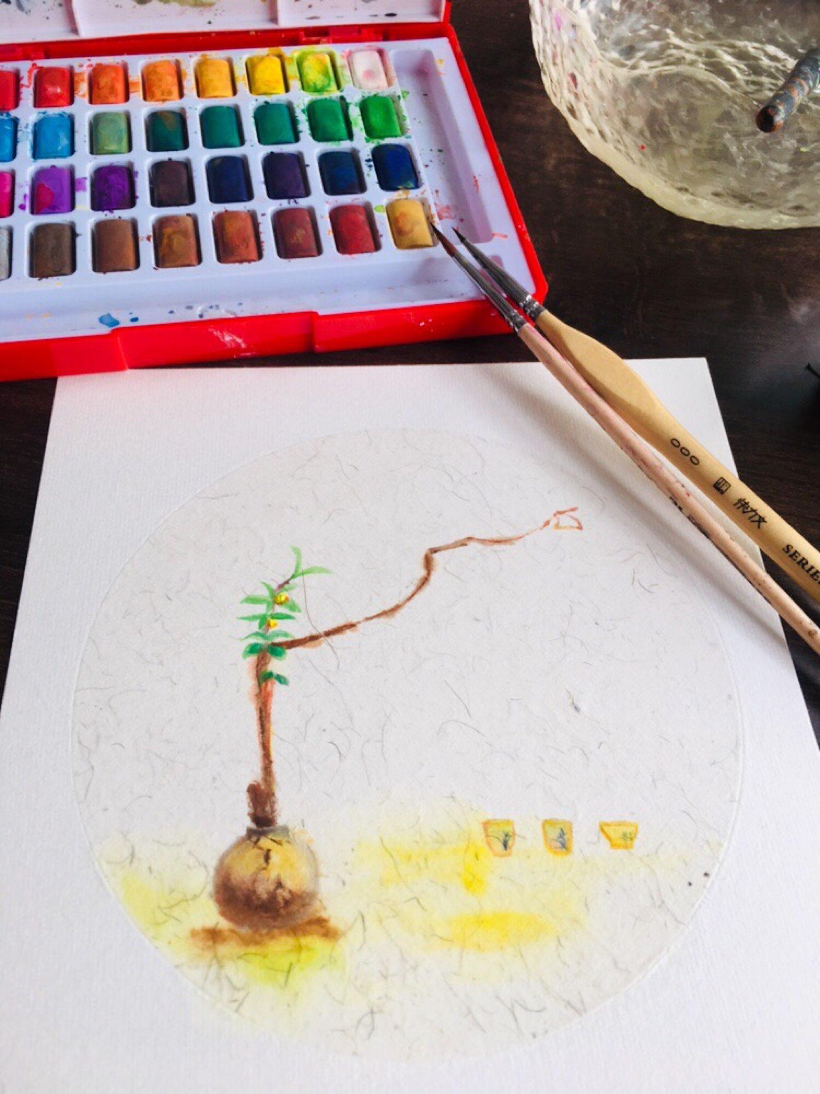 画一些茶艺插花