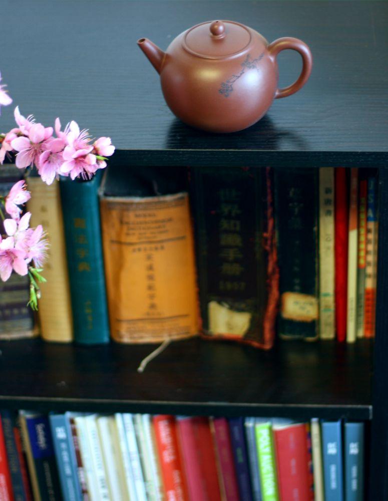 一壶清茶书半壁, 一念放下观自在。